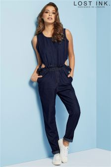 Lost Ink Cutout Jumpsuit