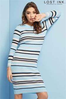 Lost Ink Stripe Knit Dress