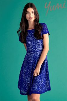 Yumi Lace Tile Skater Dress