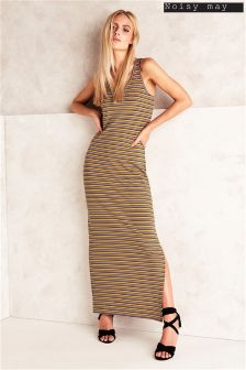 Noisy May Striped Maxi Dress
