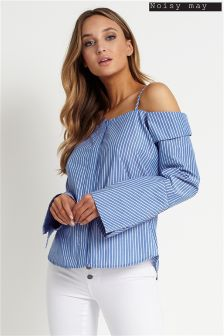 Noisy May Long Sleeve Cold Shoulder Blouse