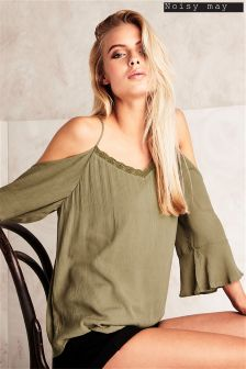 Noisy May Cold Shoulder Top