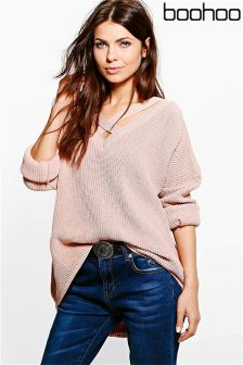 Boohoo Strap Neck Jumper