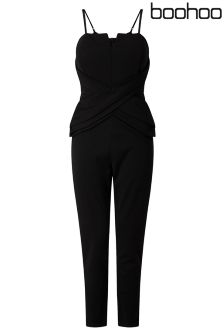 Boohoo Fold Front Jumpsuit