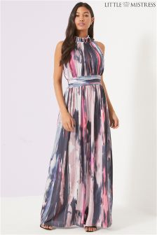 Little Mistress Marble Print Maxi Dress