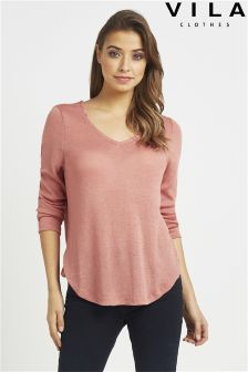 Vila Scoop Neck Top