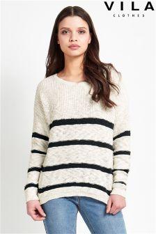 Vila Stripe Knit Top