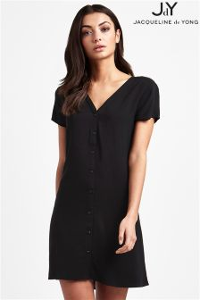 JDY Short Sleeve Button Dress