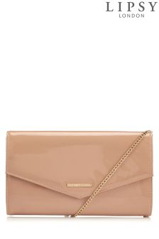 Lipsy Patent Clutch Bag