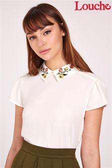 Louche Embroidered Collar Shirt