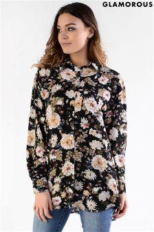 Glamorous Printed Oversized Shirt
