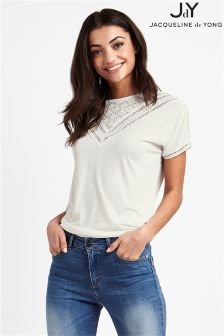 JDY Short Sleeve Lace Top