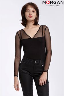 Morgan Mesh Top