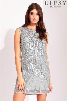 Lipsy Deco Sequin Shift Dress