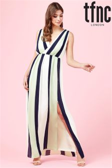 tfnc V neck Striped Maxi Dress