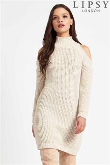Lipsy Cold Shoulder Jumper Dress