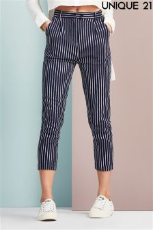 Unique 21 Pinstripe Cigarette Trousers