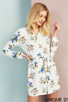 Unique 21 Floral Shirt Dress