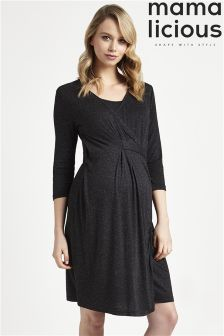 Mamalicious Maternity Nursing Jersey Dress