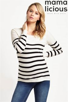 Mamalicious Maternity Long Sleeve Knitted Nursing Top