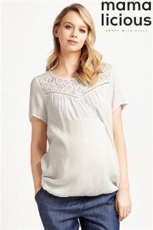 Mamalicious Maternity Short Sleeve Blouse