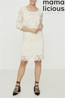 Mamalicious Maternity Lace Nursing Dress