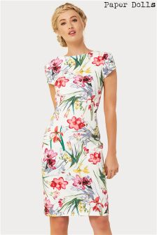 Paper Dolls Printed Pleat Dress