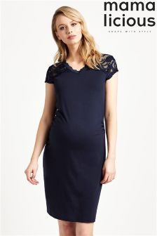 Mamalicious Maternity Cap Sleev Midi Dress
