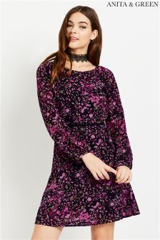 Anita & Green Floral Fit And Flare Dress