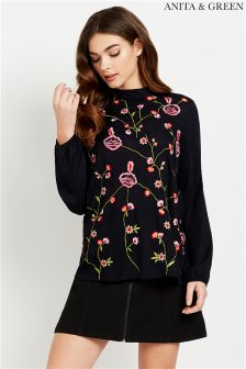 Anita & Green Floral Embroidered Top
