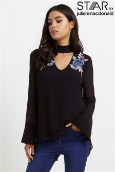 Star By Julien Macdonald Embroidered Choker Top