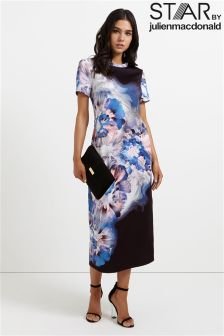 Star By Julien Macdonald Abstract Floral Jersey T-shirt Dress