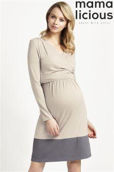 Mamalicious Maternity Nursing Jersey Dress