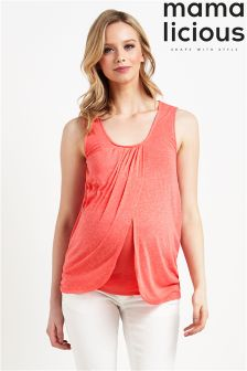 Mamalicious Maternity Sleeveless Nursing Top