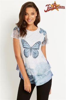 Joe Browns Sequin Butterfly Top