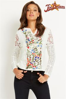 Joe Browns Floral Embroidered Top