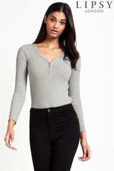 Lipsy Ribbed Long Sleeve Jumper