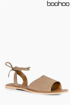 Boohoo Wrap Ankle Strap Sandals