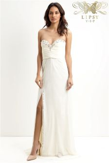 Lipsy VIP Embroidered Bandeau Maxi Dress