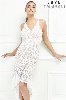 Love Triangle Lace Cami Dress