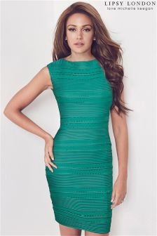 Lipsy Love Michelle Keegan Ripple Detail Bodycon Dress