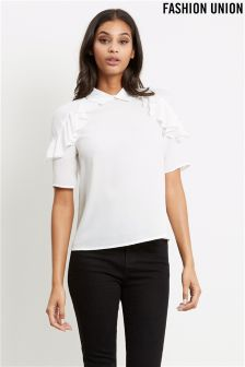 Fashion Union Frill Detail Shirt