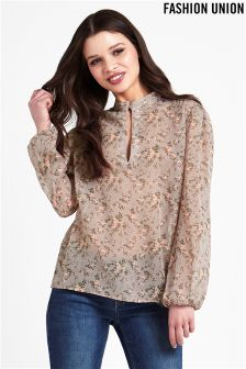 Fashion Union Printed Blouse