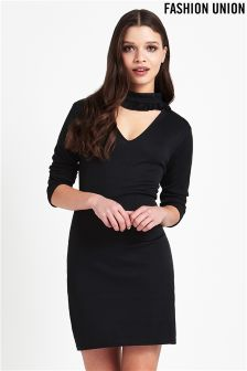 Fashion Union High Neck Bodycon Dress