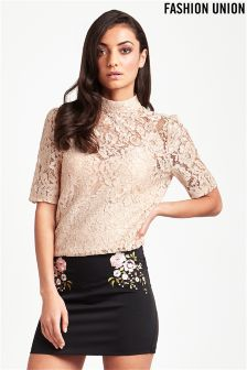 Fashion Union Lace Blouse