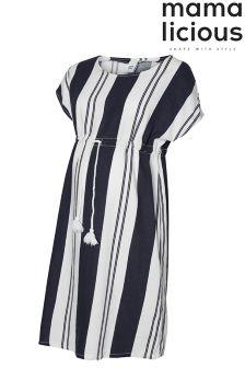 Mamalicious Maternity Draw String Shift Dress