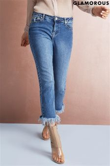 Glamorous Fray Hem Skinny Jeans