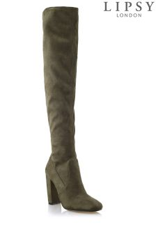 Lipsy Over The Knee Block Heel Boots