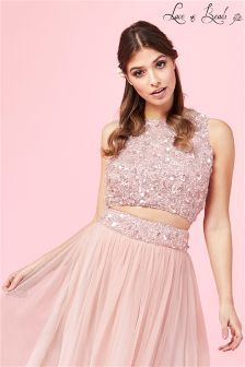 Lace & Beads Sequin Crop Top