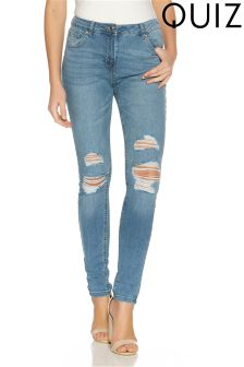 Quiz Distressed Skinny Jeans